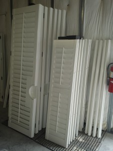 Shutter Panels primed or painted