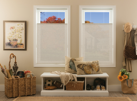 Natural Linen Flax Cellular Shades by Comfortex